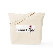 Team Bride Pink Rose Tote Bag