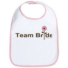 Team Bride Pink Rose Bib
