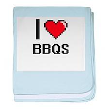 I Love Bbqs Digitial Design baby blanket