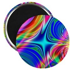 "Rainbow Splash 2.25"" Magnet (100 pack)"