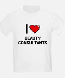I Love Beauty Consultants Digitial Design T-Shirt