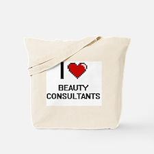 I Love Beauty Consultants Digitial Design Tote Bag