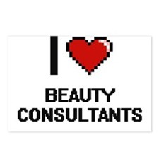 I Love Beauty Consultants Postcards (Package of 8)