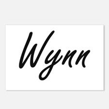 Wynn surname artistic des Postcards (Package of 8)