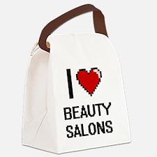 I Love Beauty Salons Digitial Des Canvas Lunch Bag