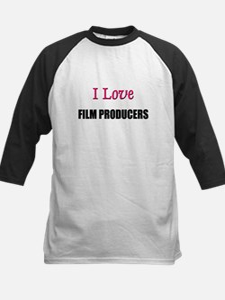 I Love FILM PRODUCERS Kids Baseball Jersey
