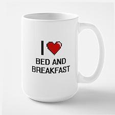 I Love Bed And Breakfast Digitial Design Mugs