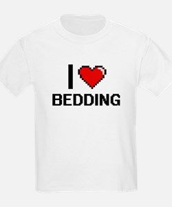 I Love Bedding Digitial Design T-Shirt