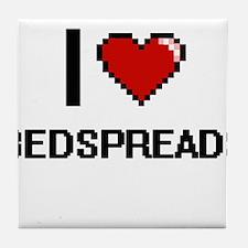 I Love Bedspreads Digitial Design Tile Coaster
