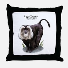 Lion-Tailed Macaque Throw Pillow