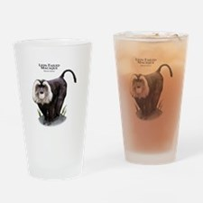 Lion-Tailed Macaque Drinking Glass