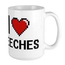 I Love Beeches Digitial Design Mugs