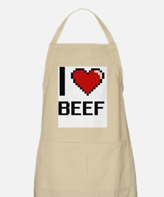 I Love Beef Digitial Design Apron