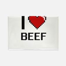 I Love Beef Digitial Design Magnets
