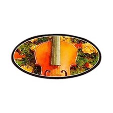 romantic fall leaves violin Patch