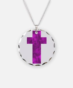 Purple Catholic Crucifix Ali Necklace