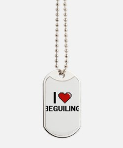 I Love Beguiling Digitial Design Dog Tags