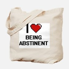 I Love Being Abstinent Digitial Design Tote Bag