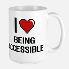 I Love Being Accessible Digitial Design Mugs