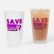 Save the earth Drinking Glass
