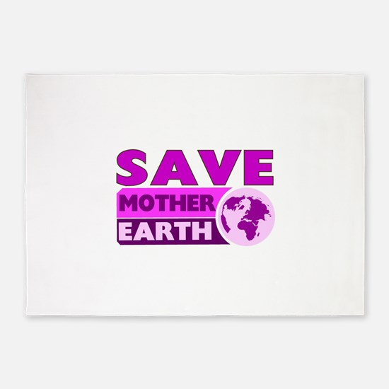 Save the earth 5'x7'Area Rug