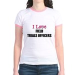 I Love FIELD TRIALS OFFICERS Jr. Ringer T-Shirt