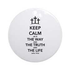 Way Truth Life Ornament (Round)