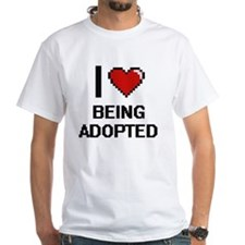 I Love Being Adopted Digitial Design T-Shirt