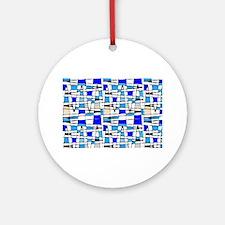 Wild Blue Cool Southern Charm Sim Ornament (Round)
