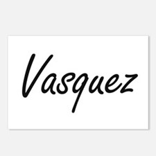 Vasquez surname artistic Postcards (Package of 8)