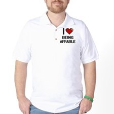 I Love Being Affable Digitial Design T-Shirt