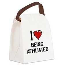 I Love Being Affiliated Digitial Canvas Lunch Bag