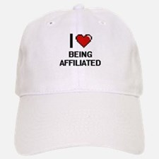 I Love Being Affiliated Digitial Design Baseball Baseball Cap
