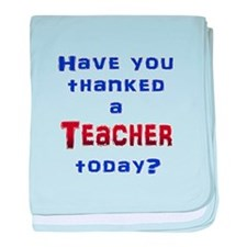 Thank Teacher baby blanket