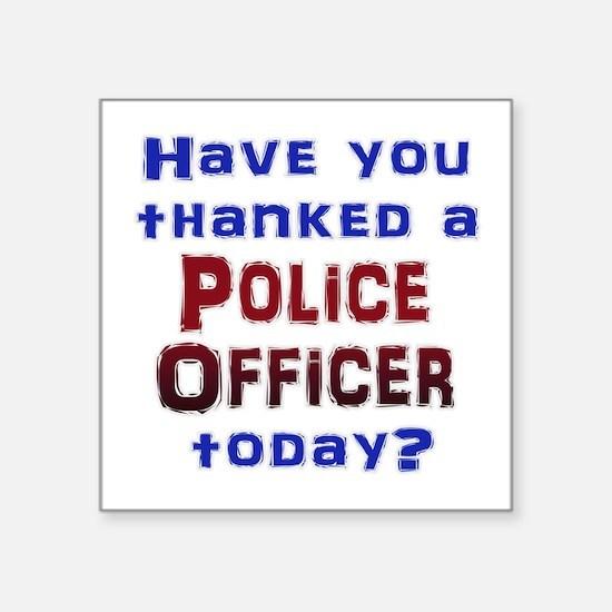 Thank Police Sticker