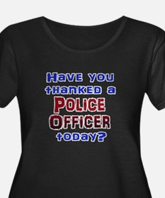 Thank Police Plus Size T-Shirt