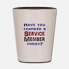 Thank Service Shot Glass