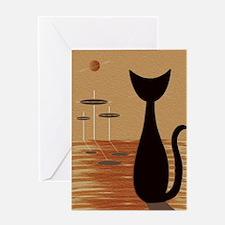 Atomic Kitty Greeting Cards
