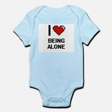 I Love Being Alone Digitial Design Body Suit