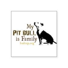 """Funny Pitbull Square Sticker 3"""" x 3"""""""