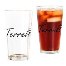 Terrell surname artistic design Drinking Glass
