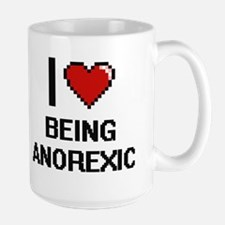 I Love Being Anorexic Digitial Design Mugs