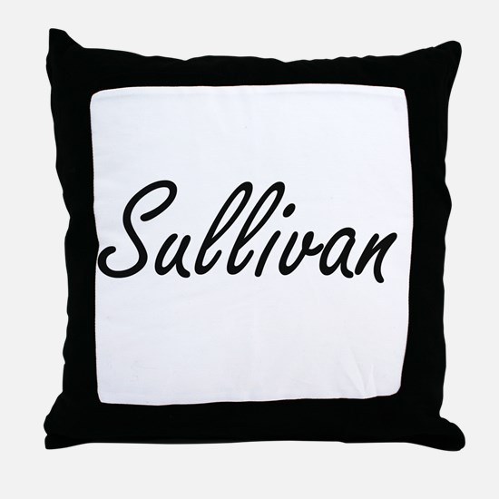 Sullivan surname artistic design Throw Pillow