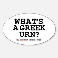 WHATS A GREEK URN Decal