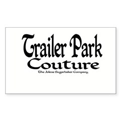 Trailer Park Couture Rectangle Decal