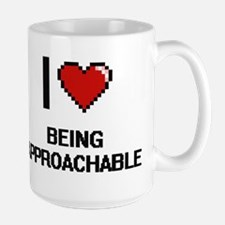 I Love Being Approachable Digitial Design Mugs