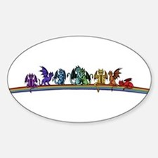 Rainbow Dragons Decal