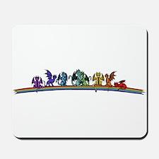 Rainbow Dragons Mousepad