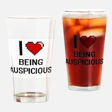I Love Being Auspicious Digitial De Drinking Glass