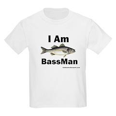 I am BassMan Kids T-Shirt